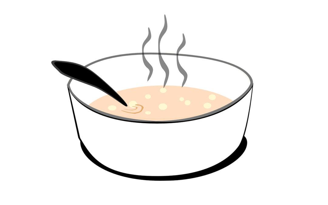 Rezept: Mehlsoppa mit Brotärdöpfel und Sura Kees