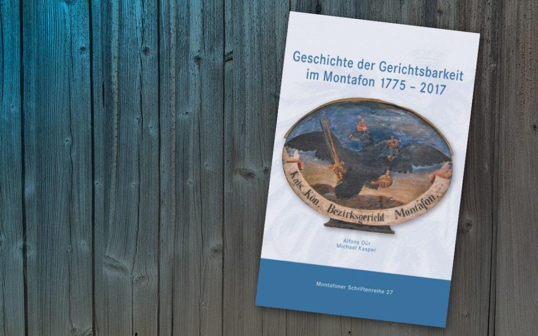 Buchtipp:  Geschichte der Gerichtsbarkeit im Montafon