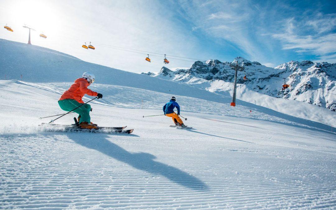 Skifahren und Snowboardfahren im Montafon