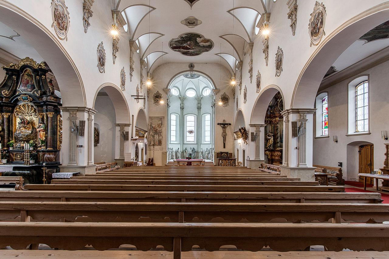 Tschagguns Kirche Innenaufnahme (Foto: Manfred Schlatter)