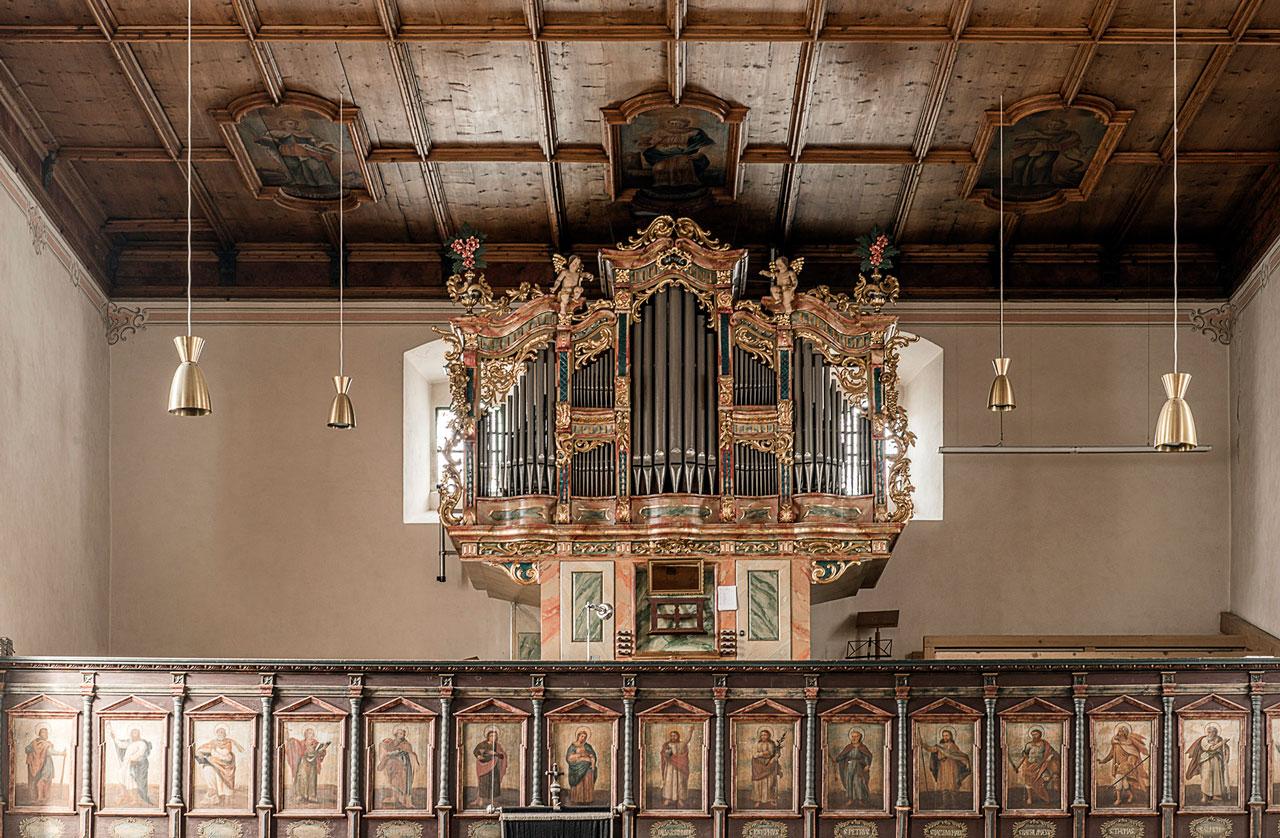 Orgel in der Bartholomäberg Kirche.(Foto: Manfred Schlatter)
