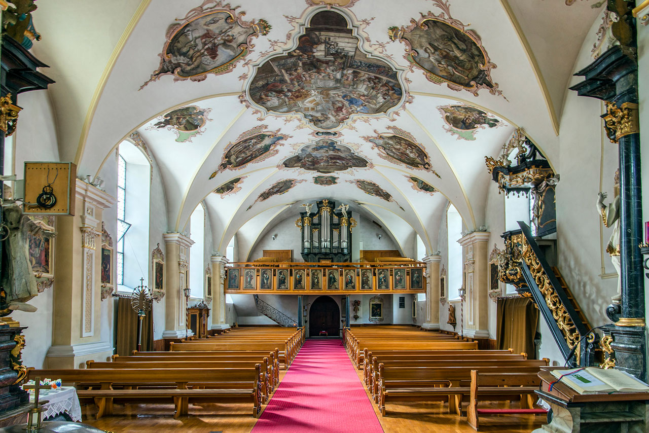Langhaus Kirche St. Gallenkirch (Foto: Manfred Schlatter)