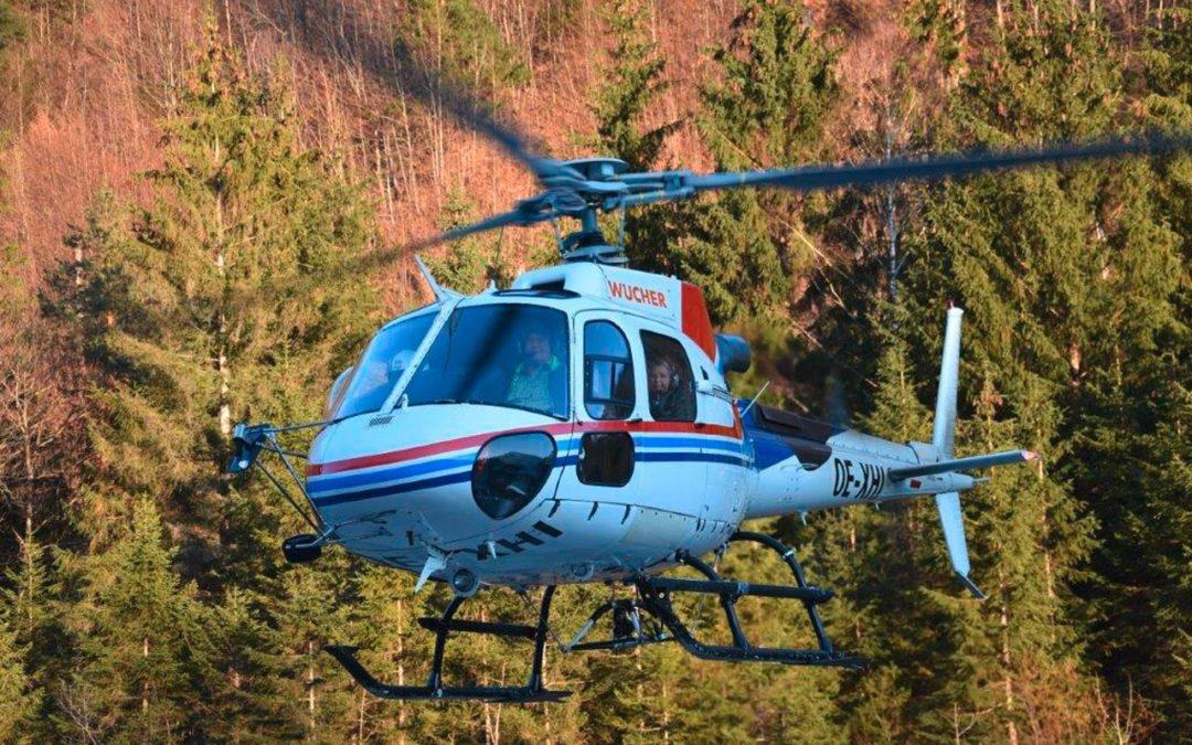 Mit dem Helikopter über dem Montafon