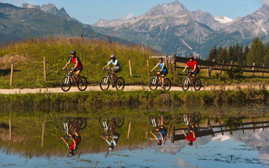 Mountainbike-Fahren im Montafon